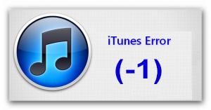 Itunes Error (-1)